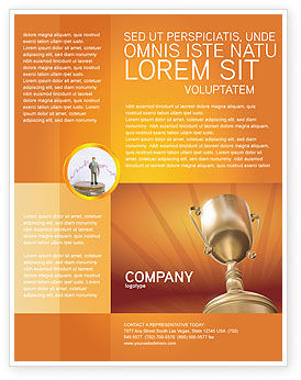 Award Flyer Template, 02858, Business Concepts — PoweredTemplate.com