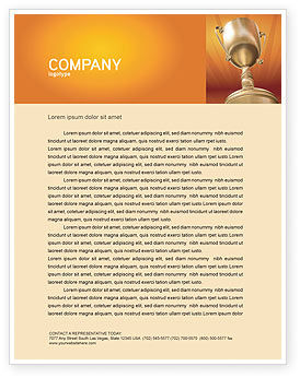 Business Concepts: Award Letterhead Template #02858