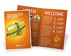 Technology, Science & Computers: Secured Folder Brochure Template #02859