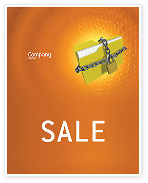 Technology, Science & Computers: Secured Folder Sale Poster Template #02859