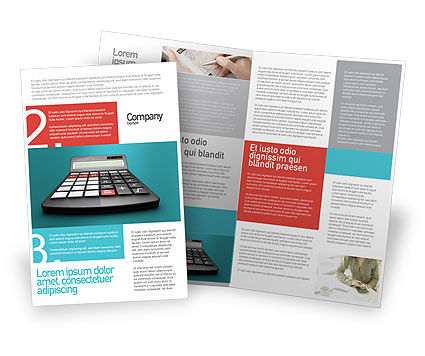 Technology, Science & Computers: Computation Brochure Template #02861