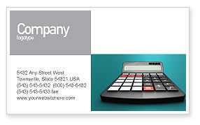 Computation Business Card Template, 02861, Technology, Science & Computers — PoweredTemplate.com