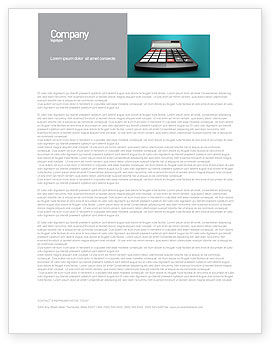 Technology, Science & Computers: Computation Letterhead Template #02861
