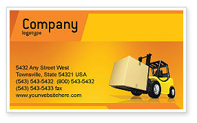Yellow Loader Business Card Template