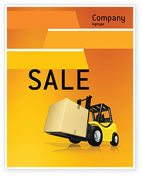 Yellow Loader Sale Poster Template, 02863, Cars/Transportation — PoweredTemplate.com