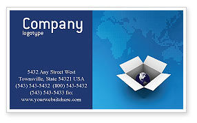 Global: Globe In The Box Business Card Template #02864
