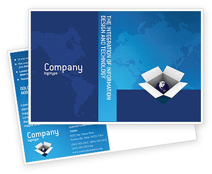 Global: Globe In The Box Postcard Template #02864