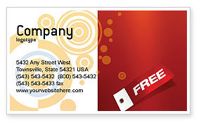 Abstract/Textures: Label Business Card Template #02865