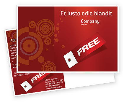 Label Postcard Template in Microsoft Word Adobe InDesign 02865 – Free Postcard Templates for Word