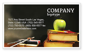 Education & Training: Back To School Business Card Template #02867