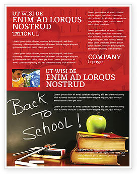 Back To School Flyer Template Background In Microsoft Word