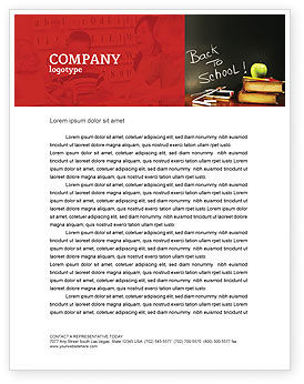 Back To School Letterhead Template, 02867, Education & Training — PoweredTemplate.com