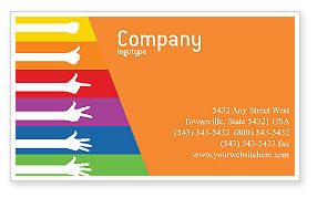 Education & Training: Counting Business Card Template #02868