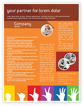 Education & Training: Counting Flyer Template #02868