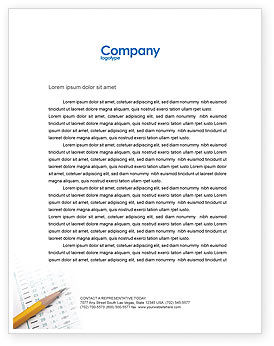 Education & Training: Educational And Psychological Test Letterhead Template #02870