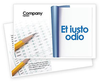 Education & Training: Modelo de cartão postal - teste educacional e psicológico #02870