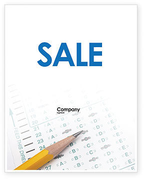 Educational And Psychological Test Sale Poster Template, 02870, Education & Training — PoweredTemplate.com