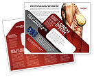 Medical: Female Anatomy Muscular Corset Brochure Template #02872