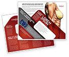 Medical: 女性の解剖学的筋肉コルセット - パンフレットテンプレート #02872