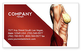 Medical: Female Anatomy Muscular Corset Business Card Template #02872