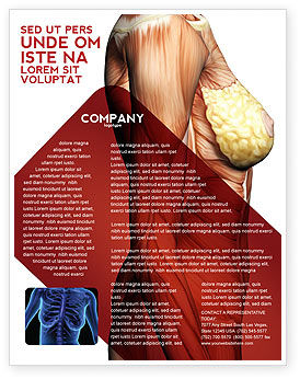 Medical: Female Anatomy Muscular Corset Flyer Template #02872