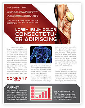 Female Anatomy Muscular Corset Newsletter Template, 02872, Medical — PoweredTemplate.com