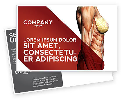Medical: Female Anatomy Muscular Corset Postcard Template #02872