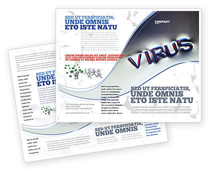 Virus Sign Brochure Template, 02875, Medical — PoweredTemplate.com