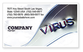 Medical: Virus Sign Business Card Template #02875