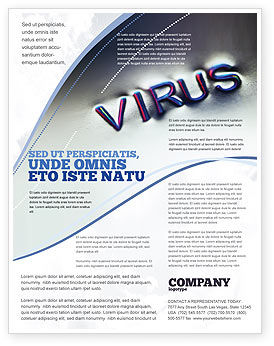 Medical: Virus Sign Flyer Template #02875
