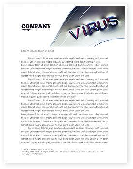 Medical: Virus Sign Letterhead Template #02875