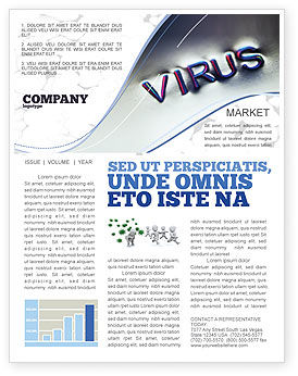 Virus Sign Newsletter Template