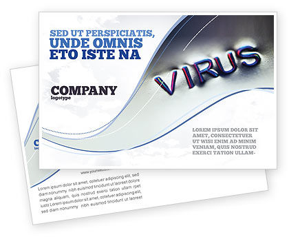 Medical: Virus Sign Postcard Template #02875