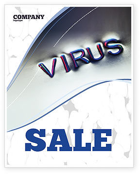 Virus Sign Sale Poster Template, 02875, Medical — PoweredTemplate.com