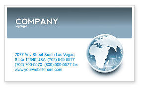 Global: Crystal World Business Card Template #02876