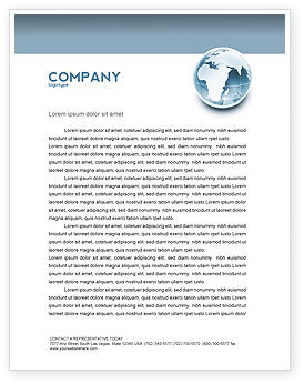 Crystal World Letterhead Template, 02876, Global — PoweredTemplate.com