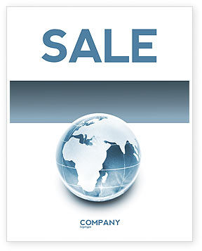 Crystal World Sale Poster Template