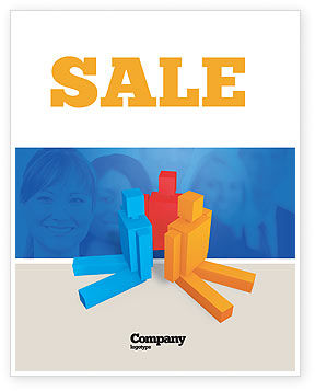 Interpersonal Attitudes Sale Poster Template, 02880, Technology, Science & Computers — PoweredTemplate.com