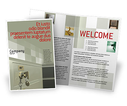 Locker Brochure Template, 02883, Business Concepts — PoweredTemplate.com