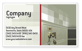 Business Concepts: Locker Business Card Template #02883