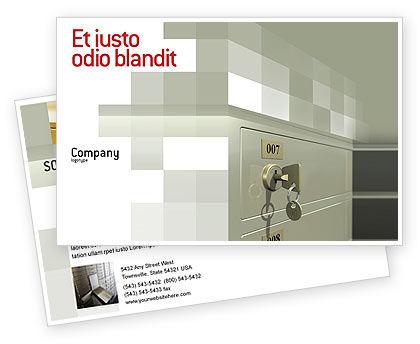 Business Concepts: ロッカー - はがきテンプレート #02883