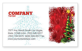 Holiday/Special Occasion: New Year Celebration Business Card Template #02885