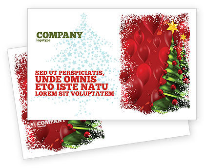 Holiday/Special Occasion: New Year Celebration Postcard Template #02885