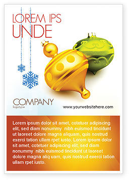 Decorations Of New Year Ad Template, 02886, Holiday/Special Occasion — PoweredTemplate.com