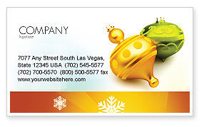 Holiday/Special Occasion: Decorations Of New Year Business Card Template #02886