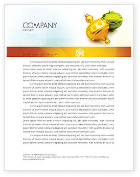 Holiday/Special Occasion: Decorations Of New Year Letterhead Template #02886