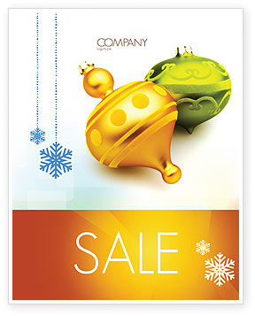Holiday/Special Occasion: Decorations Of New Year Sale Poster Template #02886