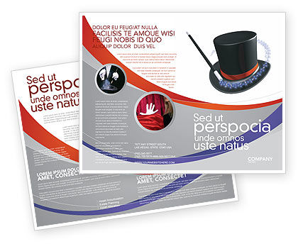 Magic Wand Brochure Template, 02887, Holiday/Special Occasion — PoweredTemplate.com