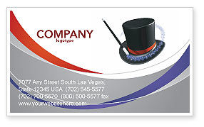 Holiday/Special Occasion: Magic Wand Business Card Template #02887