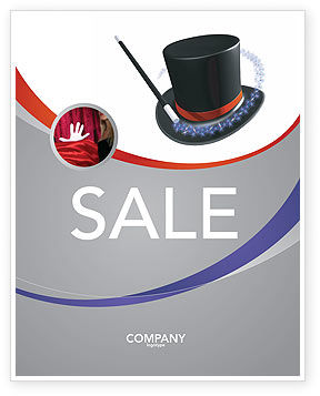 Holiday/Special Occasion: Magic Wand Sale Poster Template #02887
